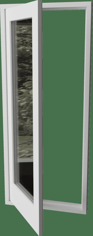 Houten buitendraaiende deur