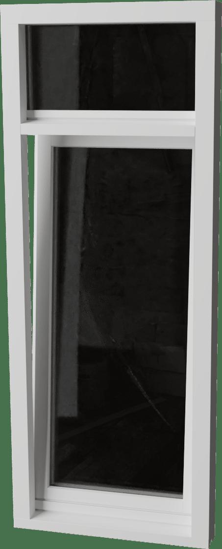 Houten Draaikiepraam met bovenlicht
