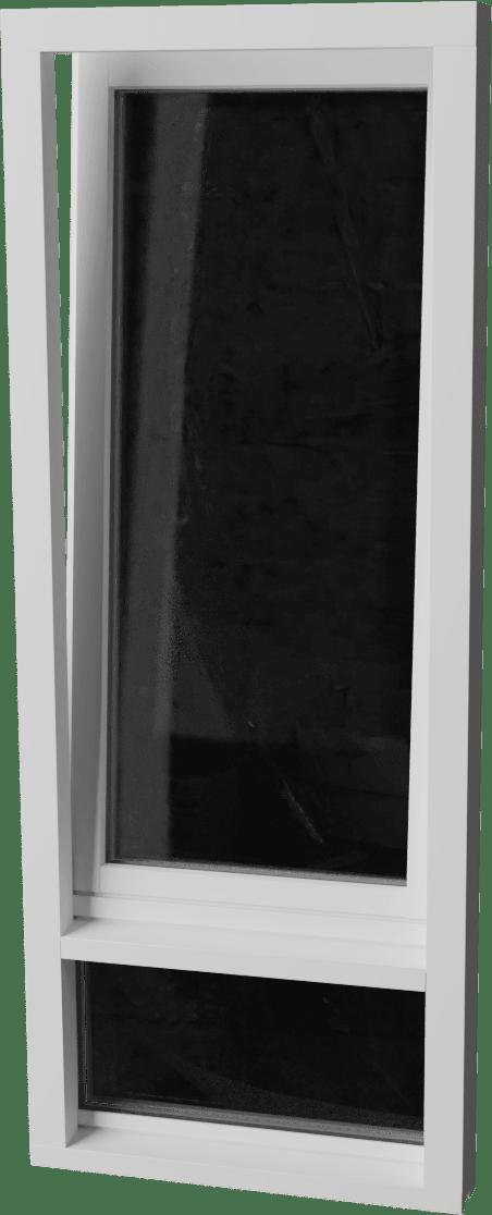 Houten Draaikiepraam met glasvak