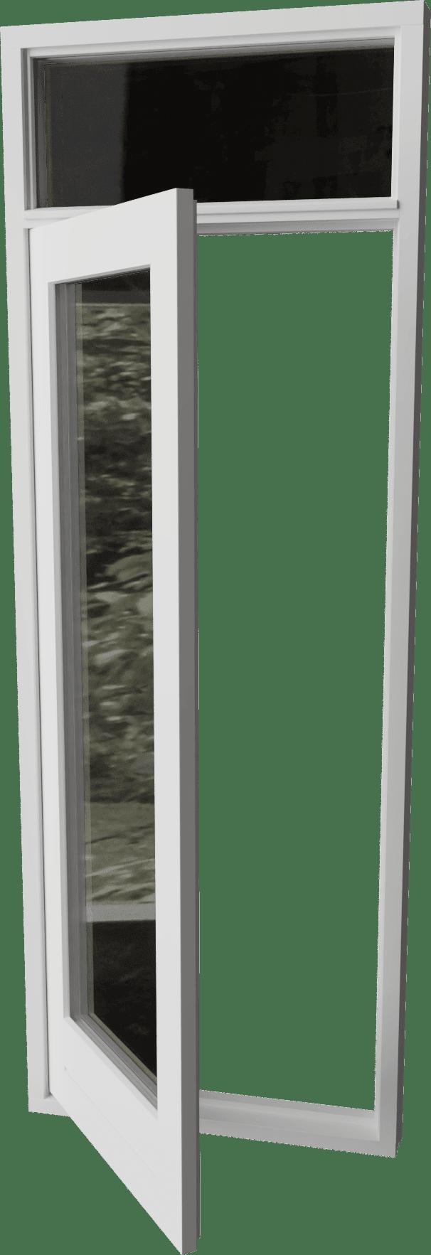 Buitendraaiende deur met bovenlicht